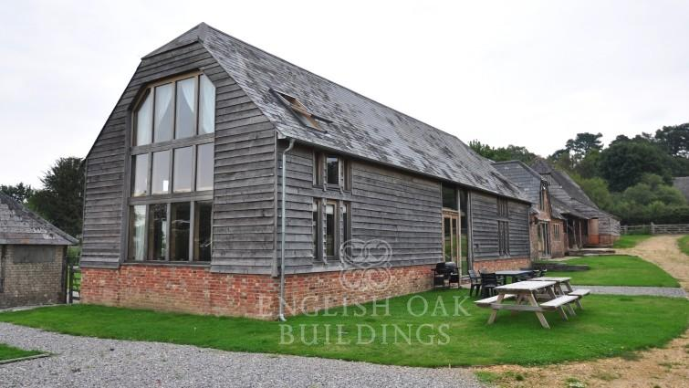 Oak frame House Barn Conversion, New Forest, Hampshire, timber cladding