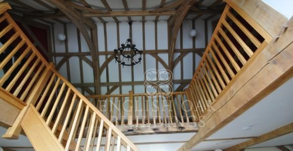 Oak frame House Barn Conversion, New Forest, Hampshire, wind braces