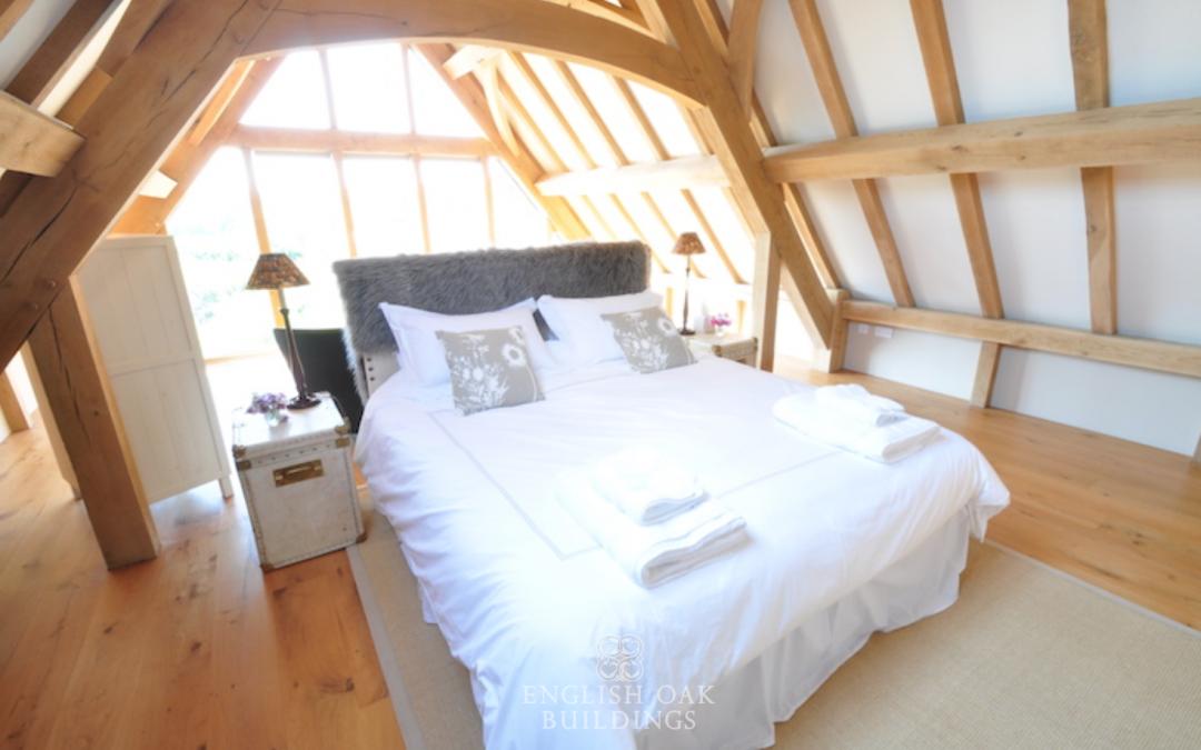 Get a great night's sleep in an oak framed bedroom