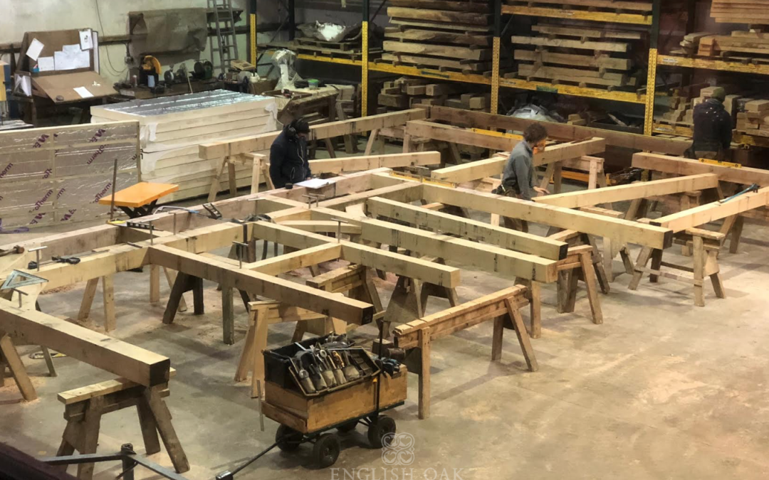 Currently, in the English Oak Buildings workshop…