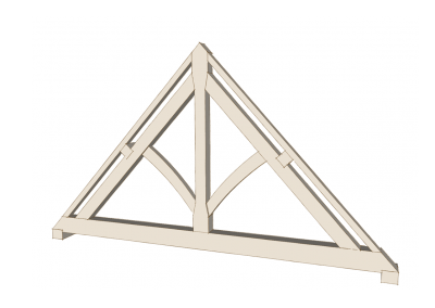 King Post Truss with Curved Struts