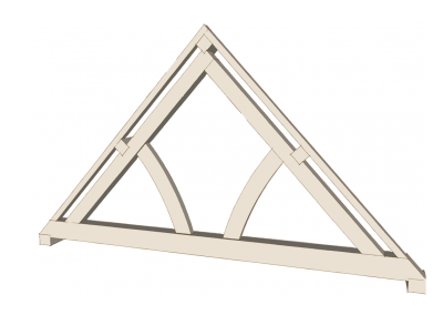Queen Post Truss (Curved)