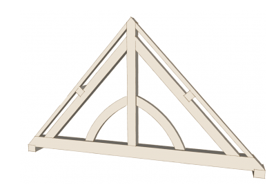 King Post Truss with Down Braces