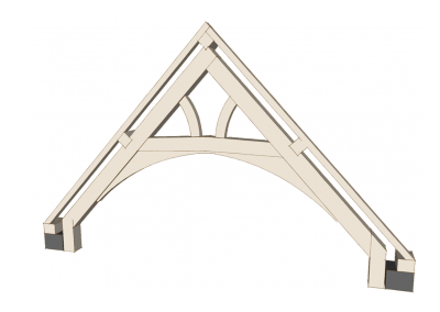 Cranked Collar Truss with Arched Braces