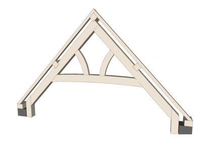 Curved Collar Truss with Curved Queen Posts