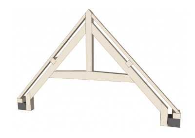 Cambered Collar truss with King Post